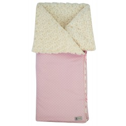 Saco arrullo Normandie topitos rosa