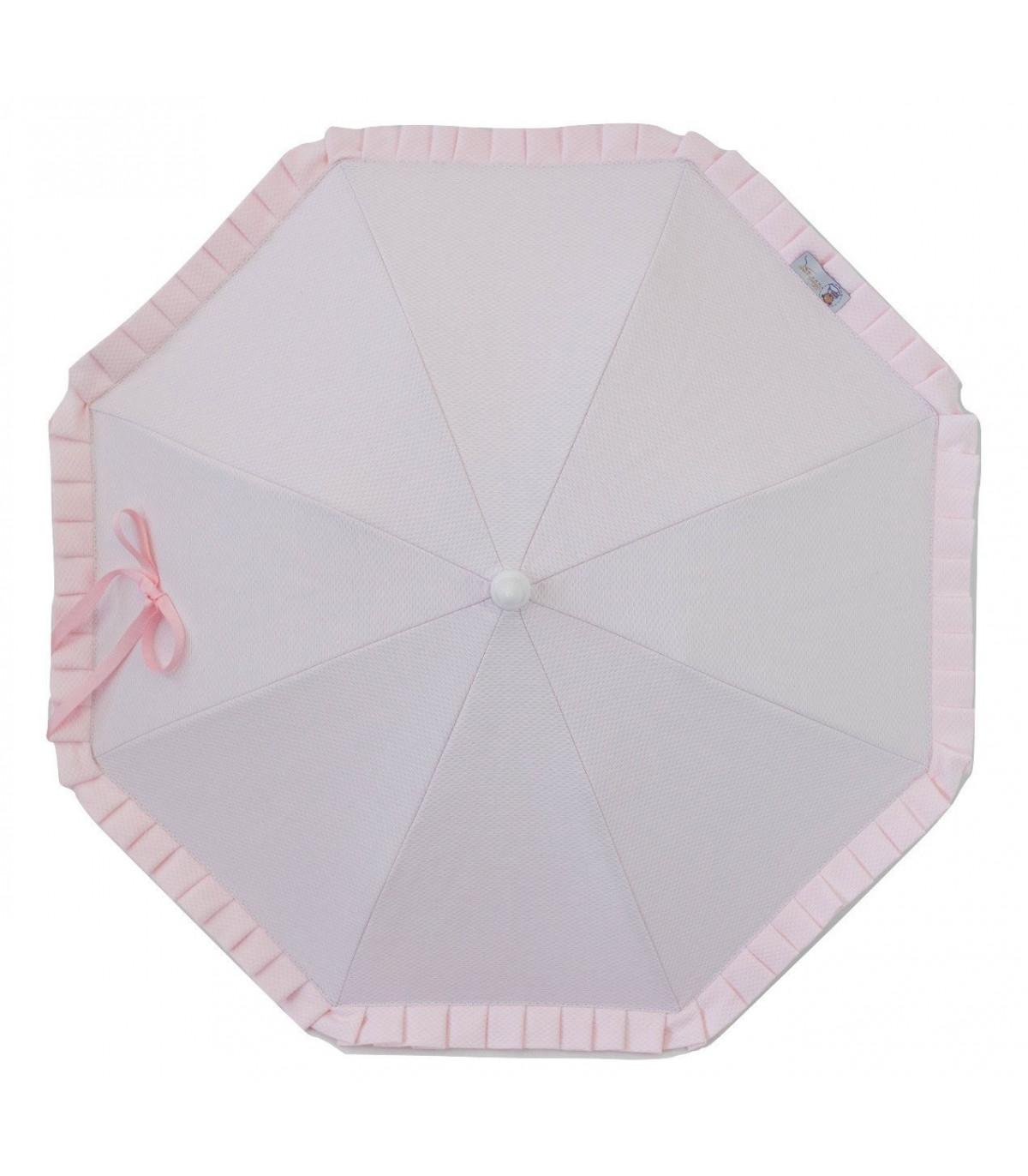 Sombrilla para silla de paseo flexo universal Parasol Rosa pique