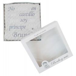 "Manta ""Dulce príncipe"" gris/blanco"