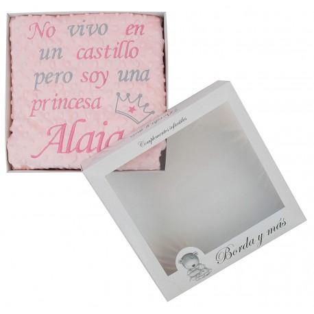 "Manta ""Dulce princesa"" rosa/gris"