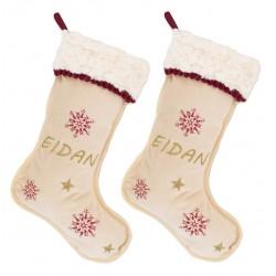 """Pack de dos botas de navidad """"Dulce Navidad"""""""