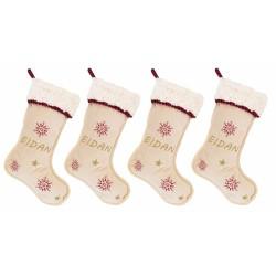 """Pack de cuatro botas de navidad """"Dulce Navidad"""""""