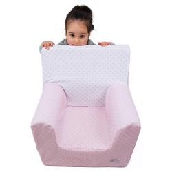 """Sillón o asiento Montessori de espuma para bebés y niños """"Estrellas"""" rosa"""