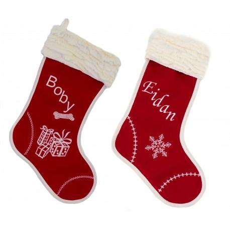 "Bota de navidad ""Dulce navidad"" para persona"