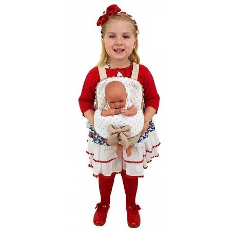 """Portabebés para muñecas """"Estrellas"""" gris"""