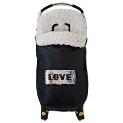 "Saco silla multimarca ""Love"" plata"