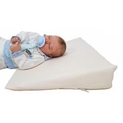 """Cuña o almohada antirreflujo y anticólicos para bebé, desenfundable """"Liso"""""""