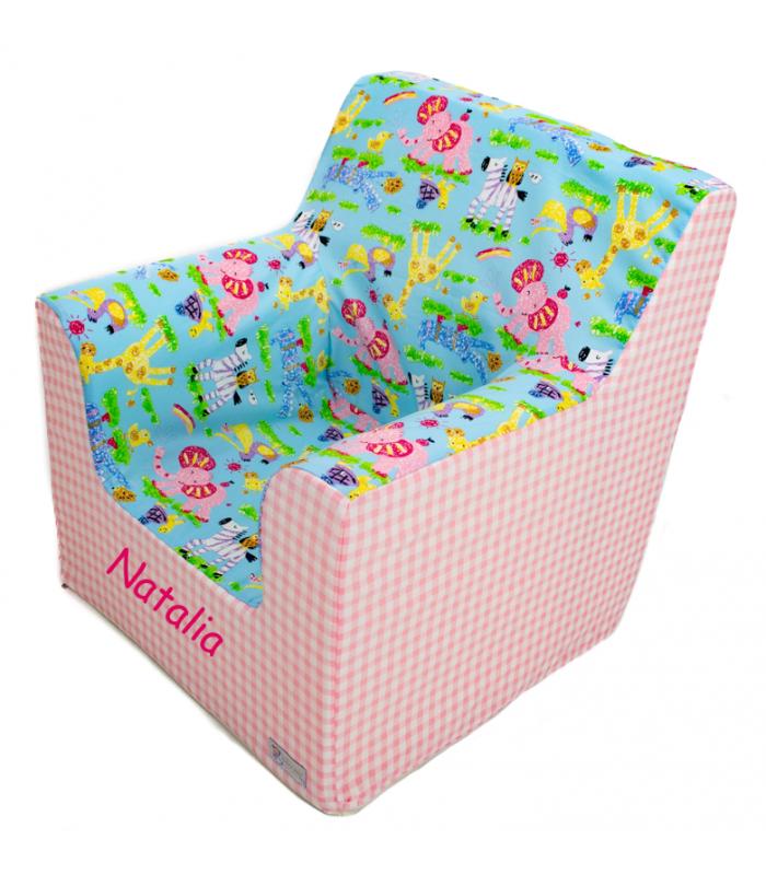 """Sillón o asiento infantil de espuma para bebés y niños """"Cute Animals"""""""