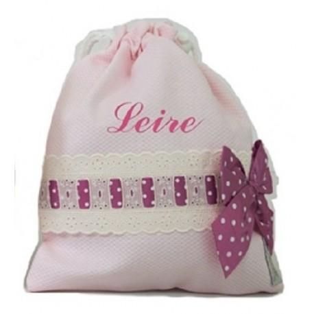 Bolsa de merienda Lencera rosa