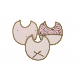Juego de minibaberos rosa/camel