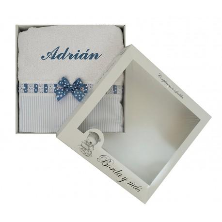 Toalla de ducha Sabela azul