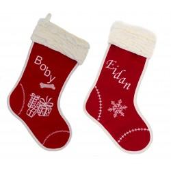 """Pack de dos botas de navidad """"Santa Claus"""""""