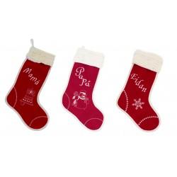 "Pack de tres botas de navidad ""Santa Claus"""