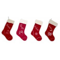 """Pack de cuatro botas de navidad """"Santa Claus"""""""