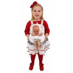"""Portabebés para muñecas """"Estrellas"""" camel"""