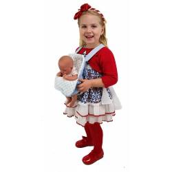 "Portabebés para muñecas ""Zuri"" azul"