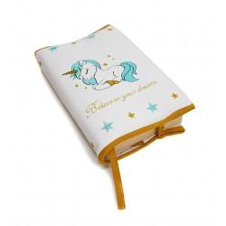 """Funda para libros """"Unicorn"""" varios colores disponibles"""