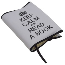 Funda Keep Calm gris/negro
